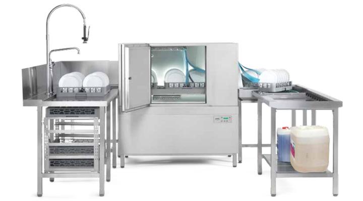 Tổng quan về máy rửa chén băng chuyền Winterhalter C50