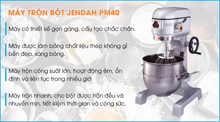 Tổng quan về máy trộn bột Jendah PM40