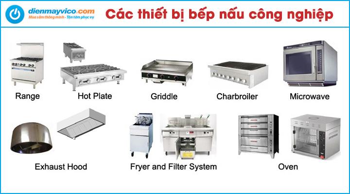 Các thiết bị bếp nấu công nghiệp
