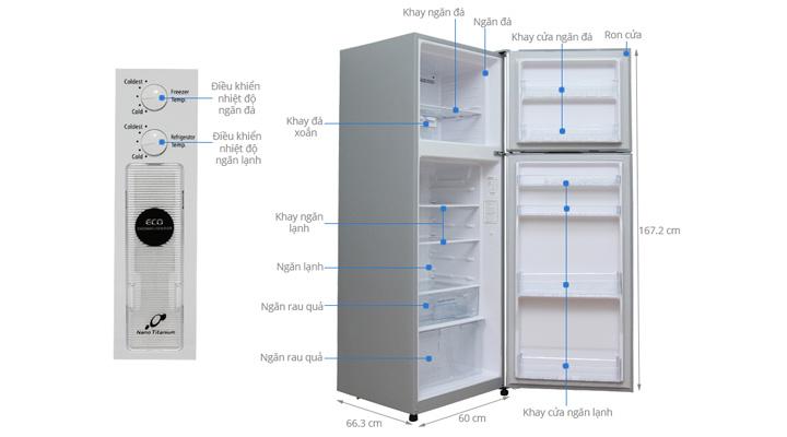 Mẫu tủ lạnh Hitachi Inverter R-H350PGV4