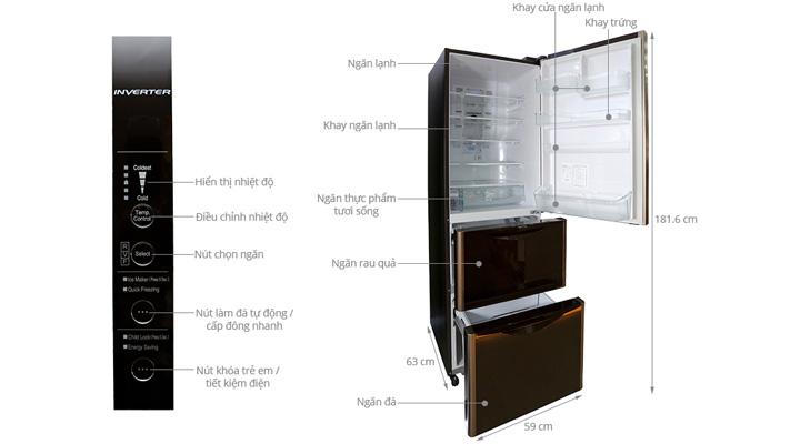 Tổng quan về tủ lạnh Hitacho Inverter R-SG37BPG (365L)