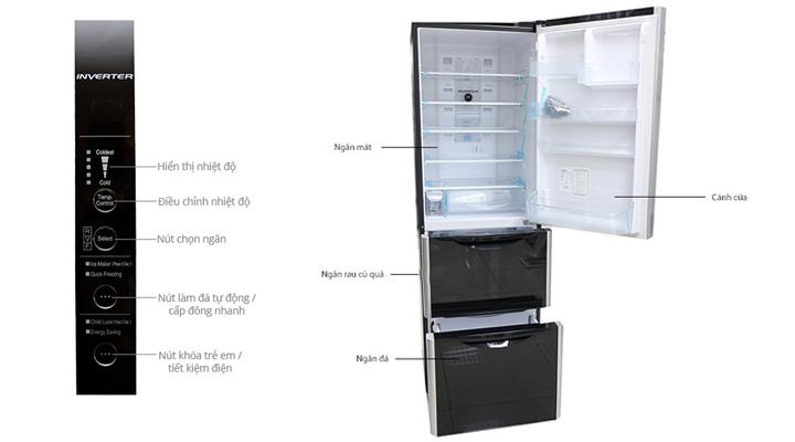 Tổng quan về tủ lạnh Hitachi R-SG38FPGV GBK