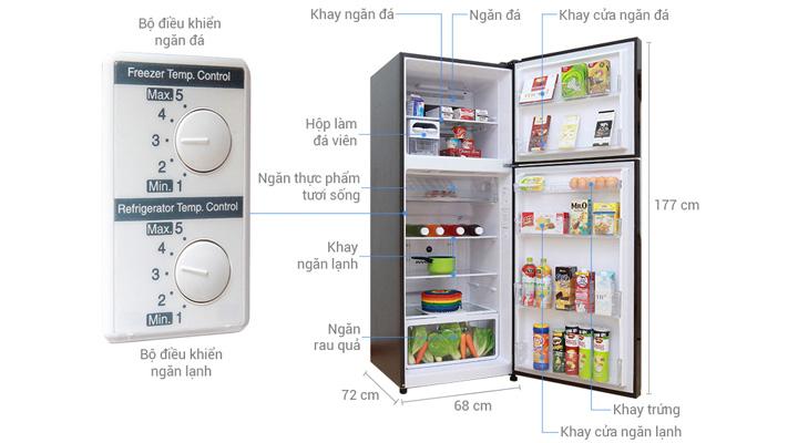 Tổng quan về tủ lạnh Hitachi R-VG470PGV3