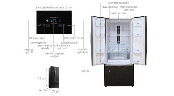 Tổng quan về tủ lạnh Hitachi Inverter R-WB545PGV2 GBK