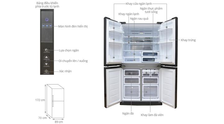 Tổng quan về tủ lạnh Sharp SJ-FX630V-ST