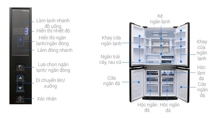 Tổng quan về tủ lạnh Sharp Inverter SJ-FX680V-ST