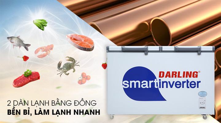 Tủ đông mát Inverter Darling DMF-3699WSI-4 trang bị hệ thống 2 dàn lạnh đồng