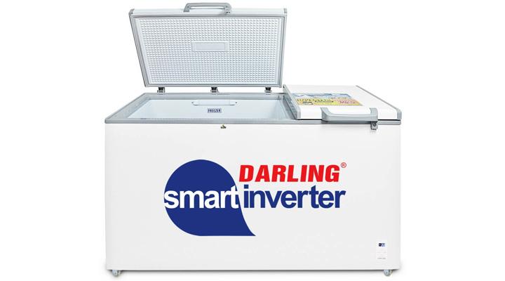 Tủ đông mát Darling Inverter DMF-7699WSI cố 2 ngăn đông - mát với ngăn đông lớn chiếm 70%
