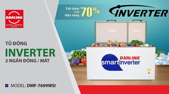 Tủ đông mát Darling DMF-7699WSI sử dụng công nghệ tiết kiệm điện Inverter
