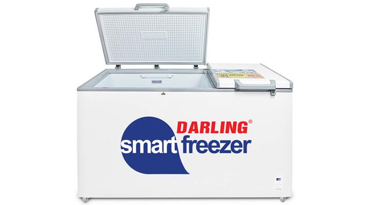 Tủ đông mát Darling DMF-7699WS-2 có 2 ngăn đông và mát riêng biệt