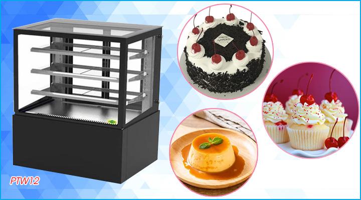 Tủ bánh kem Hoshizaki PTW12 có thiết kế sang trọng, đẹp mắt và bền bỉ