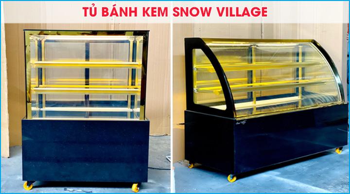 Tủ bánh kem Snow Village