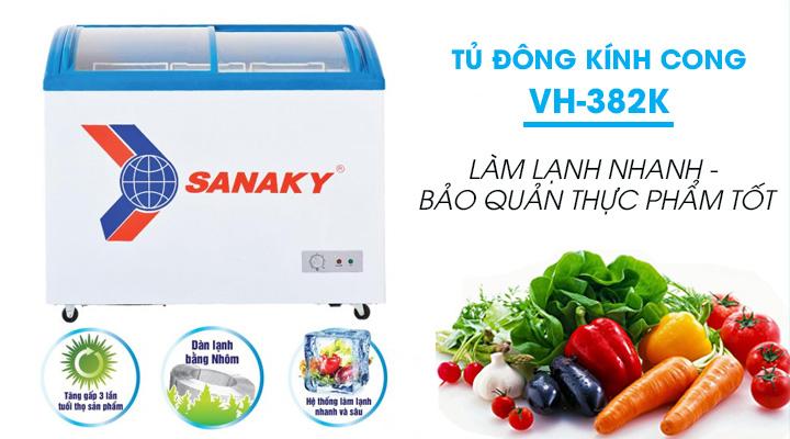Tủ đông Sanaky VH-382K bảo quản và trưng bày thực phẩm hiệu quả