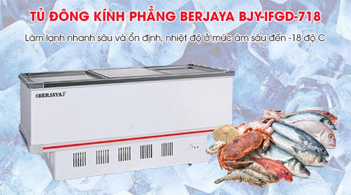 Tủ đông Berjaya BJY-IFGD718 trang bị hệ thống làm lạnh hiện đại