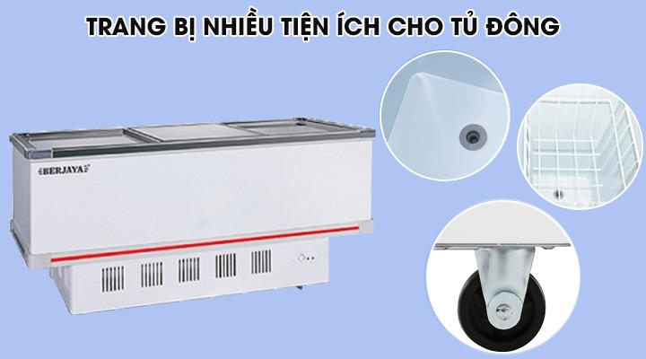 Tủ đông Berjaya BJY-IFGD718 có thiết kế nhiều tiện ích