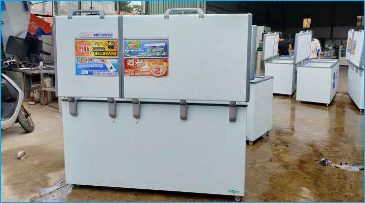 Tủ đông cho thuê được vệ sinh và cho chạy thử kỹ càng trước khi đem cho thuê