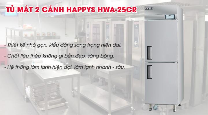 Tủ mát 2 cánh Happys HWA-25CR