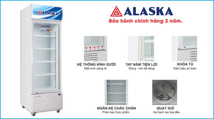 Tủ mát Alaska LC-933C có thiết kế sang trọng, hiện đại và tiện lợi