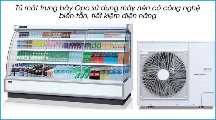 Tủ mát trưng bày thực phẩm Opo SMDRSD sử dụng máy nén công nghệ biến tần