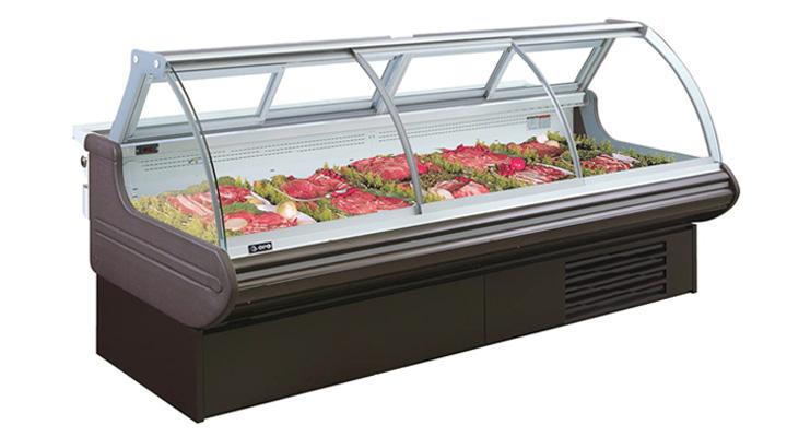 Tủ mát trưng bày thịt cá tươi sống cánh kính
