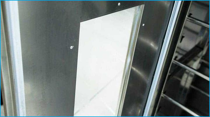 Tủ ủ bột Đài Loan có cửa tủ bằng thép không gỉ kết hợp với mặt kính trong suốt dễ quan sát