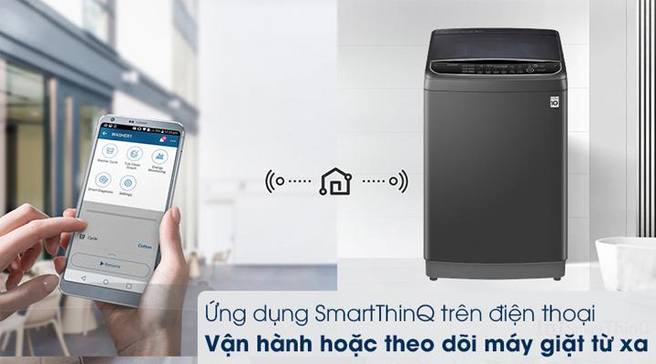 Máy giặt LG Inverter TH2111SSAB ứng dụng công nghệ điều khiển SmartThinQ