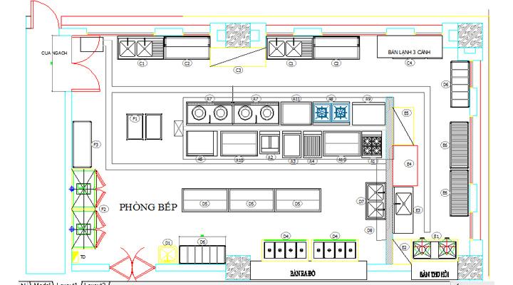 Bản vẽ thiết kế bếp ví dụ