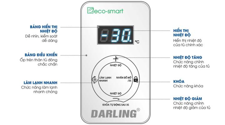 Bảng điều khiển Tủ đông Darling DMF-3799AS