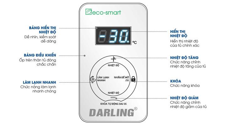 Bảng điều khiển Tủ đông Darling Inverter DMF-1279ASI