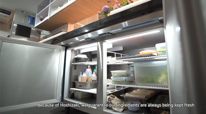 Bên trong bàn đông Hoshizaki