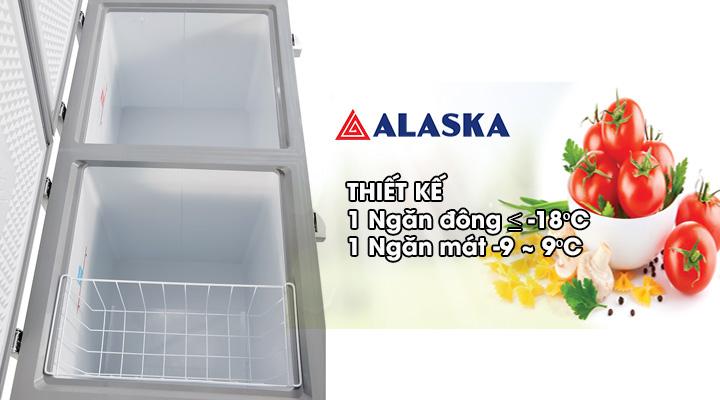 Bên trong Tủ đông mát Alaska Inverter BCD-5568CI 372 lít