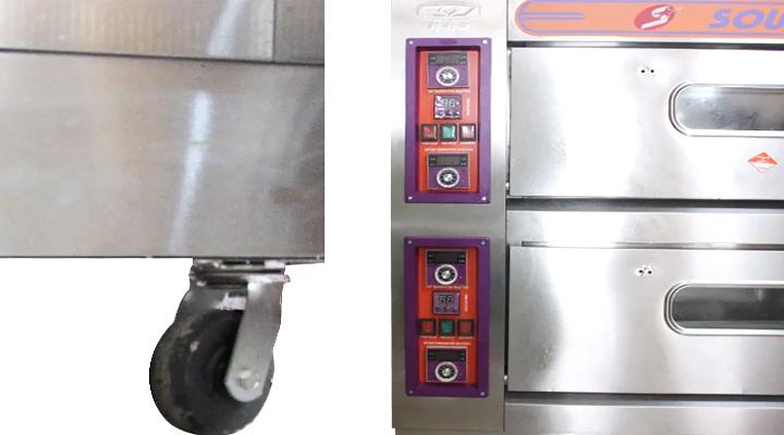 Các bộ phận Lò nướng bánh 2 tầng 4 khay Southstar dùng điện