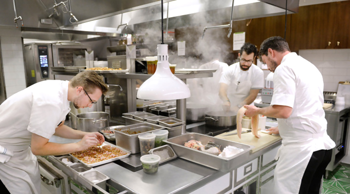Các kiểu setup bếp nhà hàng