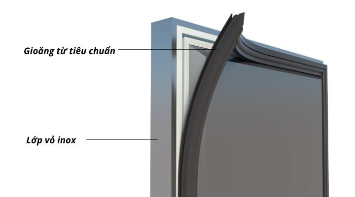 Cánh cửa Bàn đông quạt gió 2 cánh mở BDQ-2MI1560 1m5