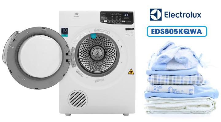 Cửa mở Máy sấy thông hơi Electrolux EDS805KQWA 8 Kg