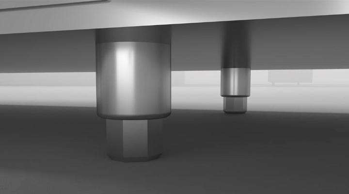 Chân bàn mát 2 cánh quạt gió