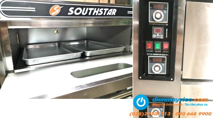 Chi tiết Lò nướng bánh 3 tầng 6 khay Southstar dùng điện