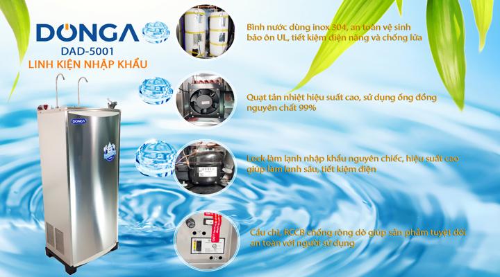 Chi tiết Máy lọc nước nóng lạnh DONGA DAD-5001