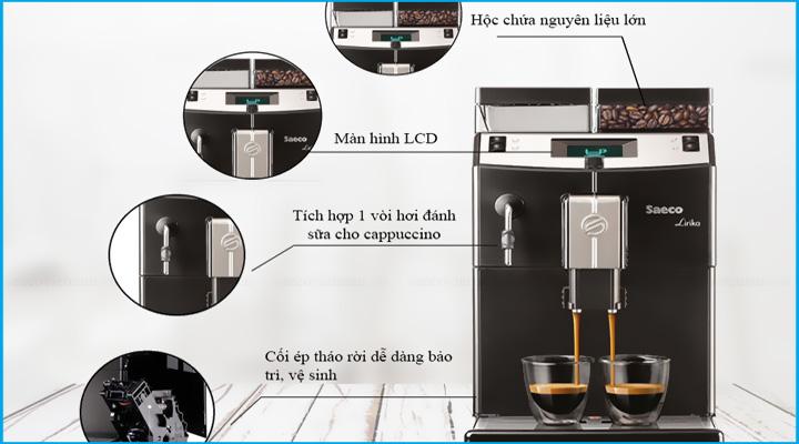 Chi tiết Máy pha cà phê Saeco Lirika Basic
