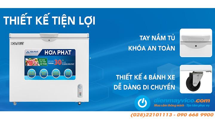 Chi tiết Tủ đông mát Funiki Hòa Phát HCFI 506S2Đ2 Inverter 205 lít