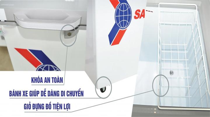 Chi tiết Tủ đông kính cường lực Sanaky VH-2599A2KD 208 lít