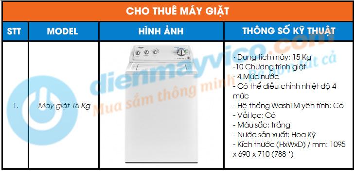 Cho thuê máy giặt giá rẻ tại TpHCM