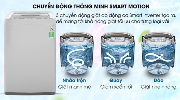 3 chuyển động Máy giặt LG Inverter T2108VSPM2 8 kg