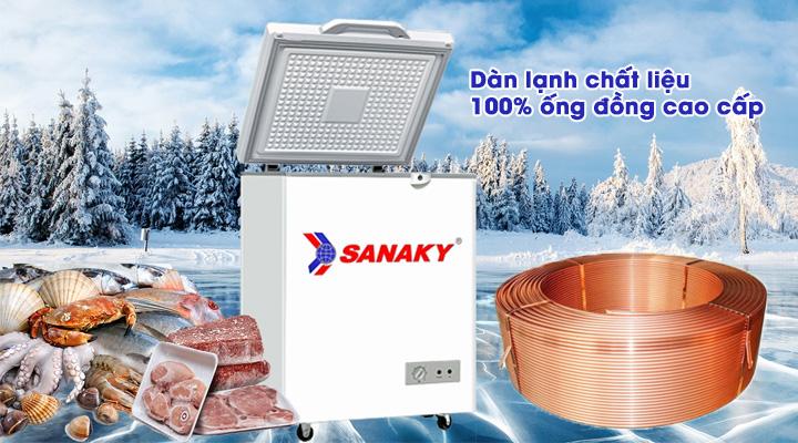 Dàn lạnh Tủ đông kính cường lực Sanaky VH-1599HYK 100 lít