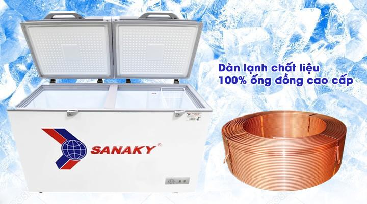 Dàn lạnh Tủ đông kính cường lực Sanaky VH-2599A2KD 208 lít