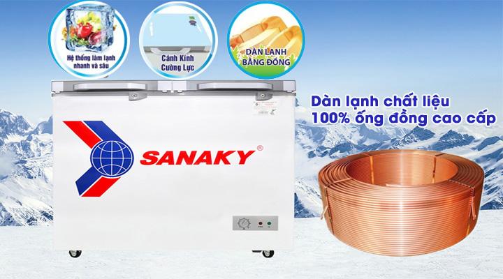 Dàn lạnh Tủ đông kính cường lực Sanaky VH-2899A2KD 240 lít