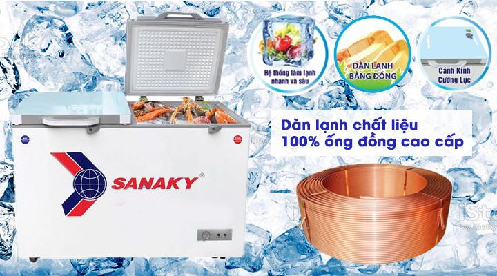Dàn lạnh Tủ đông kính cường lực Sanaky VH-3699A2KD 260 lít