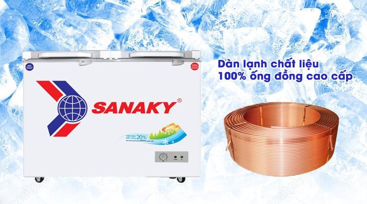 Dàn lạnh Tủ đông mát kính cường lực Sanaky VH-3699W2KD 270 lít
