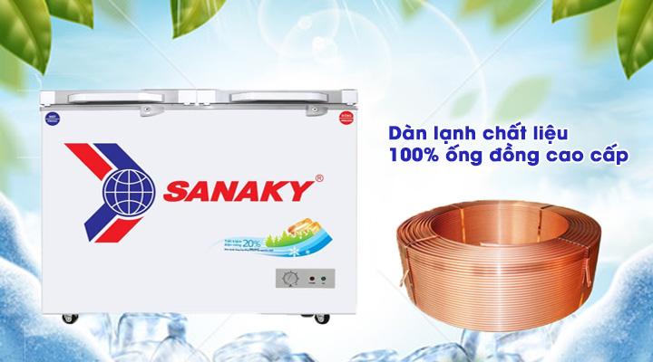 Dàn lạnh Tủ đông mát kính cường lực Sanaky VH-4099W2KD 300 lít