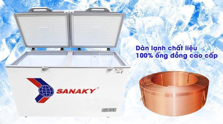 Dàn lạnh Tủ đông kính cường lực Sanaky VH-4099A2K 320 lít